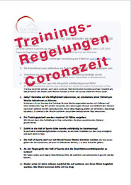 Trainingsregeln Corona